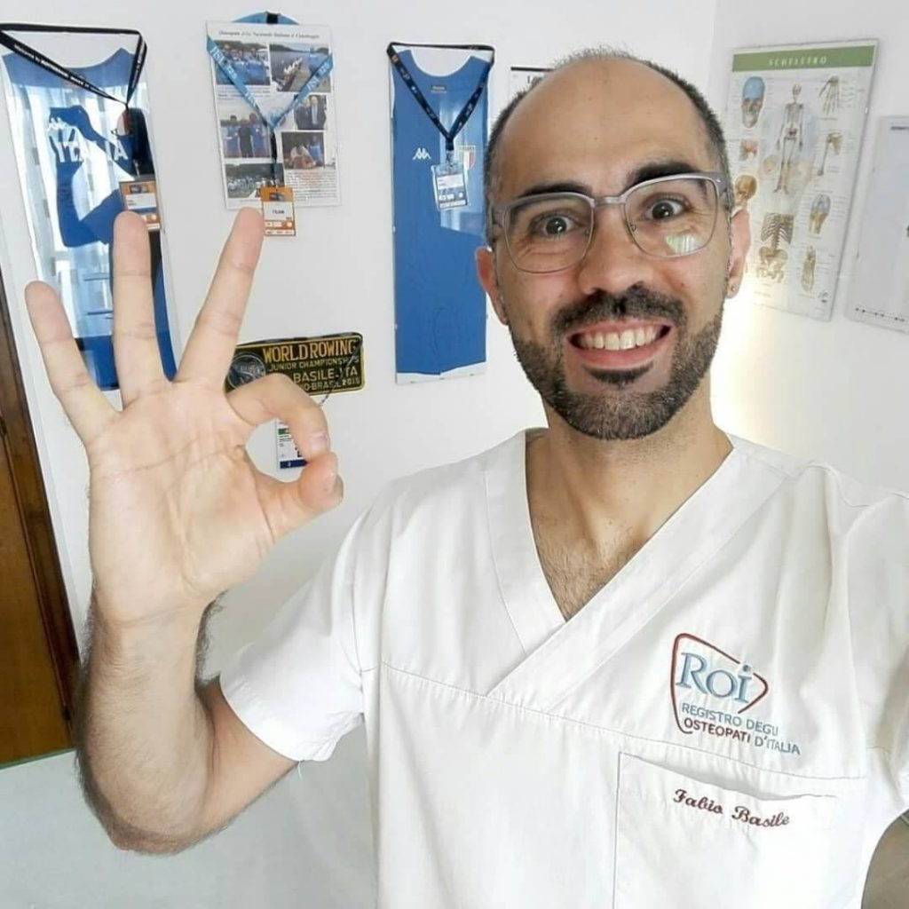 osteopath in london fabio basile treating from Central London Osteopathy and Sports Injury Clinic