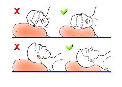 how to sleep on an orthopedic pilow